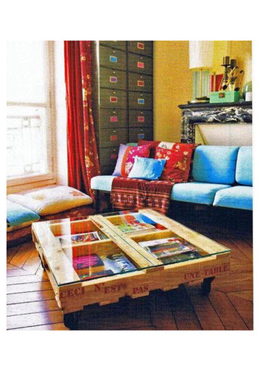 DIY shipping pallet furniture